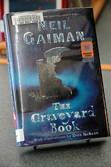 Neil Gaiman's Newbury Award winning The Graveyard Book is available at the local library. Photo by Marisa Clark