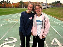 Emily Katz (left) and Mary Kate Cavanaugh (right) are two of the outstanding freshmen on the 2010 cross country team. Photo by Kellie Lodge