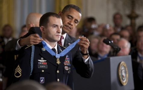 Sgt. Giunta receives the Congressional Medal of Honor from President Obama, November 16th, 2010. Photo by: Chuck Kennedy, White House Photographer