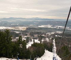 A view from the top of Pats Peak in New Hampshire. Photo by Caroline Devine