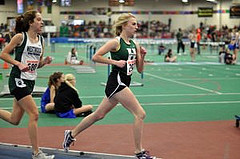 Melissa Lodge, who ran the mile in the Freshman Sophomore race. Photograph by Linda Ronan