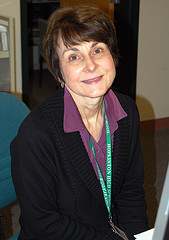 Mrs. Bright, HHS Librarian. Photo by Tony DeMore
