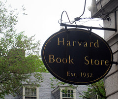 Harvard Book Store was one of the places the students had to locate during the scavenger hunt. Photo by Paige McDermott