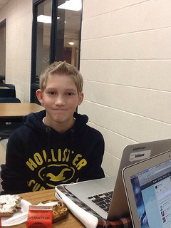 Freshman Aaron Howe stayed away from the drama on the freshmen class Facebook page. Photo by Cassie Bullock