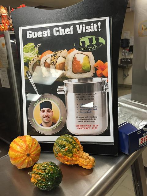 HHS prepares for the guest chef visit. Photo by Casey Palmer.