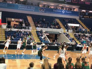 Photo: girls basketball team defending in state final