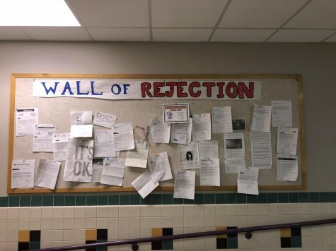 "Photo: Newton South High School's ""Wall of Rejection."""