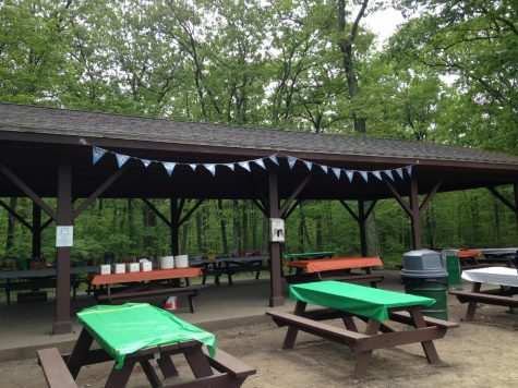 Photo: Split Rock Pavilion all setup before the senior picnic.