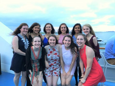 Photo: Students from the Hopkinton High School Class of 2017 at the senior boat cruise.