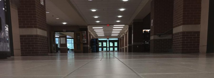 First floor is abandoned after students return to class.