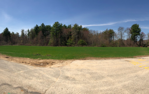 Photo: a panorama photo of field 9 behind the school
