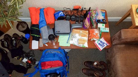 Photo: Everything I brought in my pack laid out.