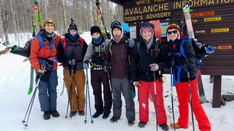 Photo: Us chaps at the trailhead of the Tuckerman Ravine Trail, mentally preparing for the trek.