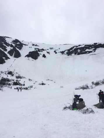Photo: A shot of Tuckerman Ravine in April 2017.