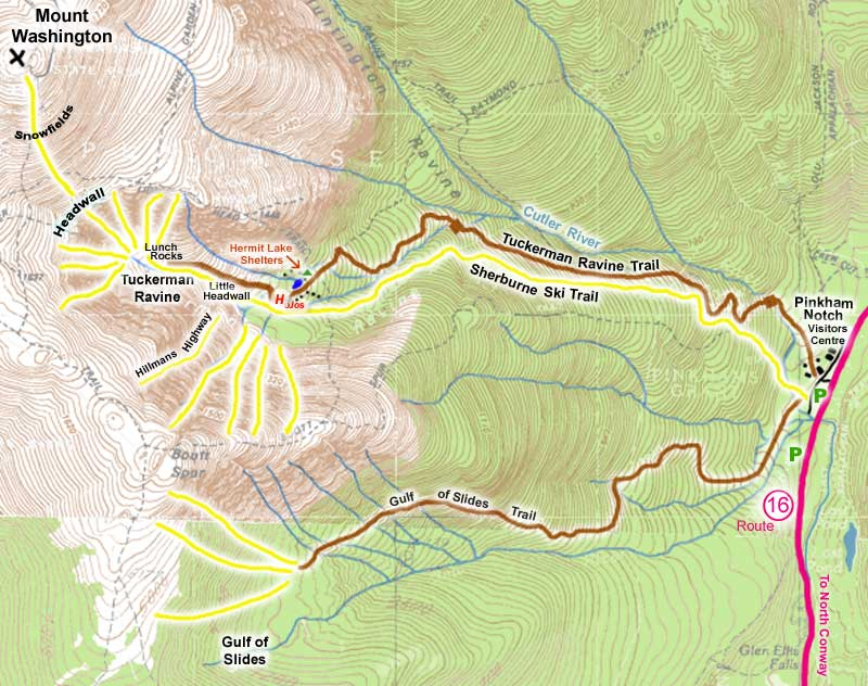 Photo: A map of the Mount Washington area to serve as a reference point as read the rest of this article.