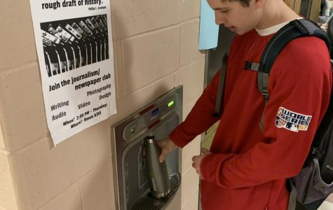 Photo: Kid fills up bottle at new water fountain