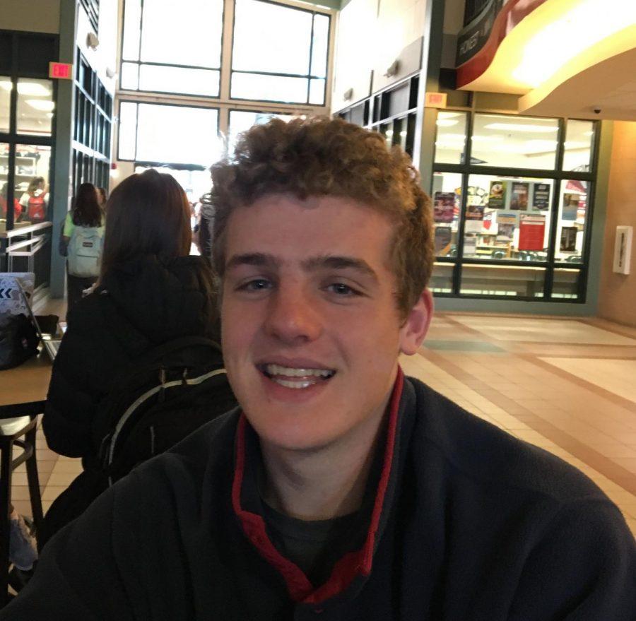 Senior Devon Rutter smiling for a picture