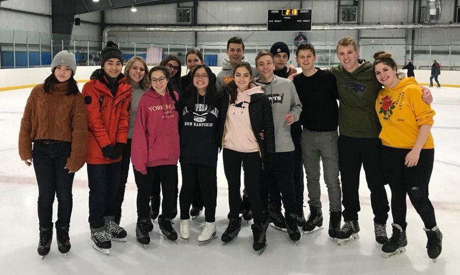 Photo: Clara Gomez with Ambassadors Club skating.