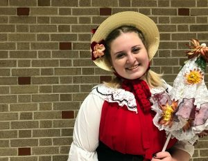 "Photo: Maddie Loos backstage for ""The Pirates of Penzance"""