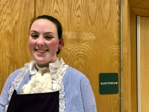 "Photo: Rebecca Gallant backstage for ""The Pirates of Penzance"""