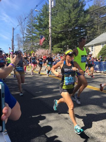 Marathon runner passes by in 2019 race
