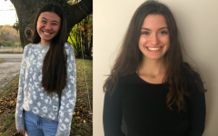 Seniors Caroline Flanagan(right) and Grace Prucher(left), like many, are embarking on their college journey this fall. With the pandemic altering the traditional application experience, they must modify their application processes.