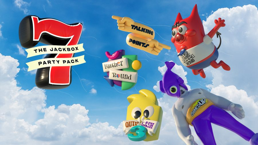 All of the Jackbox Party Pack 7 games shown in the form of ballons