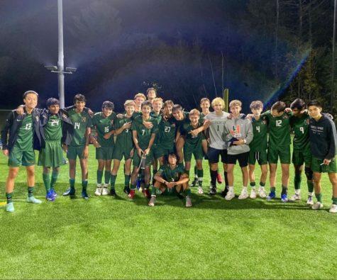 HHS Boys Varsity Soccer Team after a stellar victory.